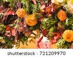 Autumn Flowers On A Flower...