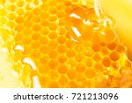 honeycombs in closeup  honey ... | Shutterstock . vector #721213096