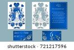 vector illustration postcard.... | Shutterstock .eps vector #721217596