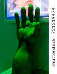 Small photo of LAS VEGAS, NV, USA - SEP 20, 2017: Hulk hand at the Avengers Station complex in Las Vegas.