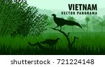 vector panorama of vietnam with ... | Shutterstock .eps vector #721224148