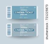 cinema ticket template vector...   Shutterstock .eps vector #721225873
