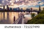 Portland Cityscape At Sunset