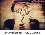 panic attack. glitched portrait ... | Shutterstock . vector #721228456