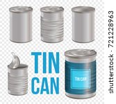 tincan  canned food realistic... | Shutterstock .eps vector #721228963
