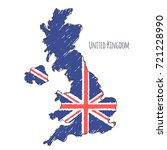 united kingdom map hand drawn... | Shutterstock .eps vector #721228990
