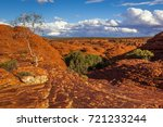 rock formations in kings canyon ...   Shutterstock . vector #721233244