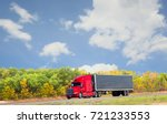 horizontal image of a semi... | Shutterstock . vector #721233553