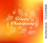happy thanksgiving day. poster ...   Shutterstock .eps vector #721234888
