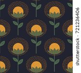 decorative floral pattern on... | Shutterstock .eps vector #721236406