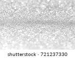 silver glitter christmas... | Shutterstock . vector #721237330
