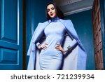 beautiful sexy young woman... | Shutterstock . vector #721239934