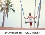vacation concept. happy young... | Shutterstock . vector #721240564