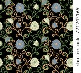 seamless pattern with flowers... | Shutterstock .eps vector #721242169