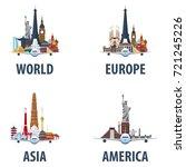 set of travel emblems. world ...   Shutterstock .eps vector #721245226