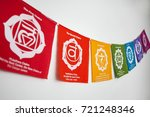 colored decorative little flags ... | Shutterstock . vector #721248346