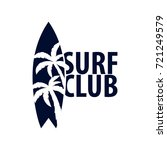 surfing logo and emblems for... | Shutterstock .eps vector #721249579