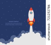 startup concept with rocket... | Shutterstock .eps vector #721252786