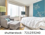 hotel room blur background with ... | Shutterstock . vector #721255240