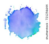 abstract isolated watercolor... | Shutterstock .eps vector #721256644