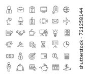 business finance line icons set ... | Shutterstock .eps vector #721258144