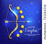 greeting card with bow and... | Shutterstock .eps vector #721261216