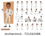 set of businessman character... | Shutterstock .eps vector #721262488