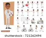 set of businessman character... | Shutterstock .eps vector #721262494