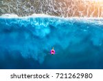 aerial view of slim woman... | Shutterstock . vector #721262980