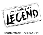 you're looking at a legend.... | Shutterstock .eps vector #721265344