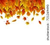 vector illustration of autumn... | Shutterstock .eps vector #721269490
