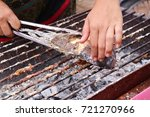 fish grilled salt street food | Shutterstock . vector #721270966