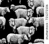 seamless pattern with sheep. | Shutterstock . vector #721272106
