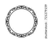 decorative retro frames .vector ... | Shutterstock .eps vector #721279159