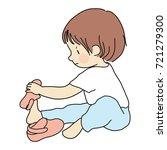 vector illustration of little... | Shutterstock .eps vector #721279300
