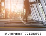 young woman execute exercise in ... | Shutterstock . vector #721280938