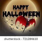 happy halloween vector... | Shutterstock .eps vector #721284610