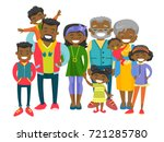 happy extended african smiling... | Shutterstock .eps vector #721285780