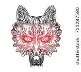 angry wolf head. wolf blackwork ...   Shutterstock .eps vector #721287580