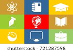 collection of education logo | Shutterstock .eps vector #721287598
