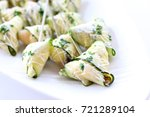cucumber and cream cheese wrap... | Shutterstock . vector #721289104