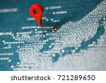 map on north korea with nuclear ...   Shutterstock . vector #721289650