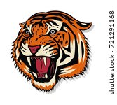 angry tiger face | Shutterstock .eps vector #721291168