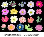 flower set | Shutterstock .eps vector #721293004