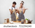 kitchen disaster and bad... | Shutterstock . vector #721294240