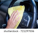 hand cleaning interior car...   Shutterstock . vector #721297036