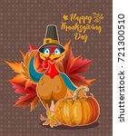 happy thanksgiving day vector... | Shutterstock .eps vector #721300510