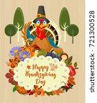 happy thanksgiving day vector... | Shutterstock .eps vector #721300528
