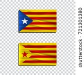 catalan nationalist flag. flag... | Shutterstock .eps vector #721301380
