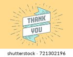 thank you. vintage ribbon... | Shutterstock .eps vector #721302196